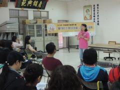 郭淑真引領參與研習營的夥伴認識台中地區農會大坑麻竹筍產業